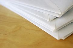 Envelopes on table Royalty Free Stock Images