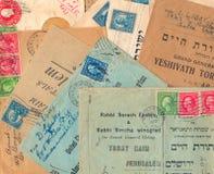 Envelopes usados velhos de Estados Unidos fotografia de stock