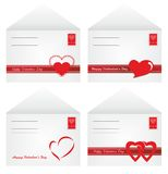 Envelopes for Valentine\'s Day Royalty Free Stock Photos