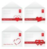 Envelopes for Valentine\'s Day. White envelopes for Valentine's Day mail Royalty Free Stock Photos