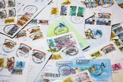 Envelopes velhos do borne Fotografia de Stock Royalty Free