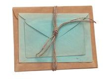 Envelopes velhos isolados em um fundo branco Imagens de Stock Royalty Free
