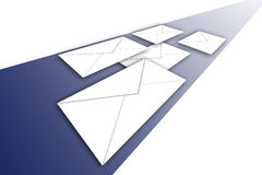 Envelopes on the way vector illustration