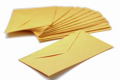 Envelopes on white background Royalty Free Stock Photos