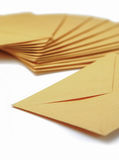 Envelopes on white background Royalty Free Stock Images