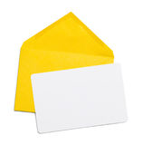 Envelopes Yellow and Card Royalty Free Stock Photo