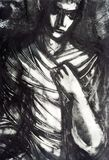 Enveloping Darkness. Monotype on paper Stock Photography