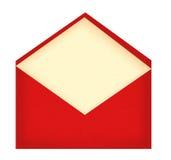 Enveloppe à marquer d'une pierre blanche avec la carte de papier d'isolement sur le blanc Photos stock