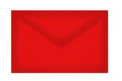 Enveloppe à marquer d'une pierre blanche d'isolement sur le blanc Photographie stock libre de droits