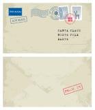 Enveloppe à Santa Photo libre de droits