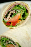 Enveloppe 3 de jambon et de salade Photographie stock