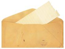 Enveloppe antique avec des souillures Images stock