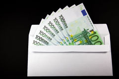 Enveloppe avec l'argent Images libres de droits