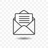 Enveloppe avec l'icône de papier Photographie stock