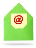 Enveloppe avec la feuille de papier photographie stock
