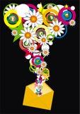 Enveloppe avec la fleur Images stock