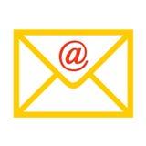 Enveloppe avec le symbole d'email Photo stock