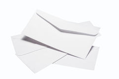 Enveloppe blanche Photo libre de droits