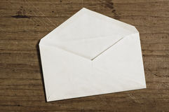 Enveloppe blanche Photographie stock