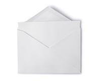 Enveloppe blanche avec la page blanche pliée pour la correspondance image libre de droits