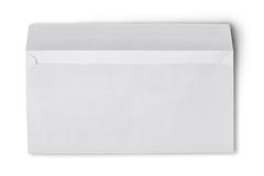 Enveloppe blanche pour la correspondance photographie stock