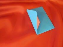 Enveloppe bleue image stock