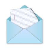Enveloppe bleue avec la lettre Images libres de droits