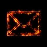 Enveloppe brûlante Photos stock