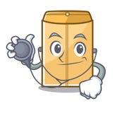 Enveloppe d'annonce de docteur dans la forme de caract?re illustration stock