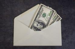 Enveloppe d'argent. image stock