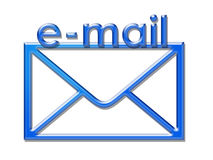 Enveloppe d'email Photo stock