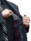 Enveloppe dans une poche de jupe Image libre de droits
