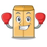 Enveloppe de boxe d'annonce dans la forme de caractère illustration de vecteur