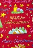Enveloppe de cadeau de Noël Photographie stock libre de droits