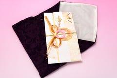 Enveloppe de cadeau et emballage japonais de crêpe Photo libre de droits