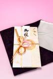 Enveloppe de cadeau et emballage japonais de crêpe Photographie stock