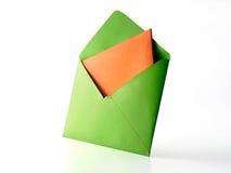 Enveloppe de couleur Image stock