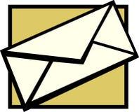 Enveloppe de courrier Photos stock