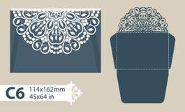Enveloppe de félicitations de calibre avec le modèle à jour découpé Images stock