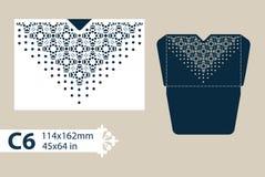 Enveloppe de félicitations de calibre avec le modèle à jour découpé Image stock