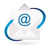 Enveloppe de flèche d'email illustration de vecteur