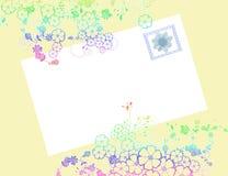 Enveloppe de fleur avec l'estampille Images stock