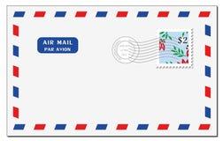 Enveloppe de la poste aérienne Photo libre de droits