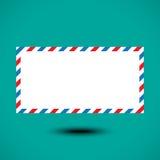 Enveloppe de la poste aérienne d'isolement sur le fond blanc Photos libres de droits