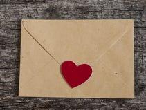 Enveloppe de lettre d'amour Photos stock