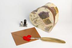 Enveloppe de lettre d'amour, concept de valentine Images stock