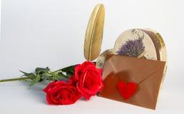 Enveloppe de lettre d'amour, concept de valentine Photo stock