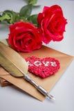 Enveloppe de lettre d'amour, concept de valentine Photos stock