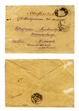 Enveloppe de lettre de cru Photos libres de droits
