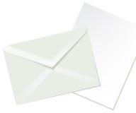 Enveloppe de lettre et livre blanc Images libres de droits